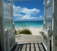 Doors to the sea.