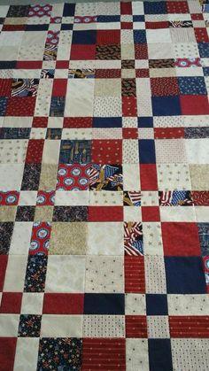 Strip Quilt Patterns, Strip Quilts, Blue Quilts, Scrappy Quilts, Easy Quilts, Flag Quilt, Patriotic Quilts, Patch Quilt, Quilt Blocks