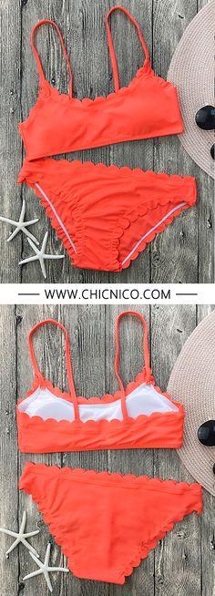 Enjoy the summer with orange bikini set. - -Search more at chicnico.com