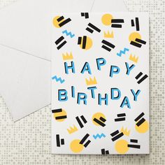 Birthday pattern card at Dowse