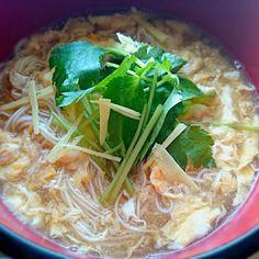 今朝は 風邪気味なので 胃にも優しい にゅうめんに。千切りの生姜 たっぷりです♪ - 109件のもぐもぐ - 卵とじにゅうめん♪ by yokotachibana