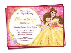 Beauty and the Beast Invitation - Belle Invitation - Disney Princess Birthday - Party Printable Birthday Invitation
