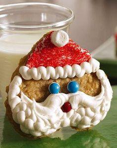 Oatmeal Shortbread Santas