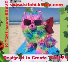 This awesome bundle of absolute cuteness, has 8 different colored wings & a Hat to match in 3 sizes. Creating Smiles everywhere, Kitchi-Kitten is a adorable addition to anyones pet collection for many reasons. (A Trademark Reg Product) Rainbow Butterfly, Rainbow Unicorn, Unicorn Cat, Brave, Kittens, Pets, Wings, Toy, Bright
