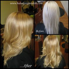 Make your blonde Gorgeous! Cut & Color By Amber Gamble. Halo Designs Salon.