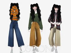 Wide Pants for The Sims 4