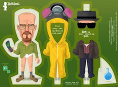 'trim dolls' by andrés martínez ricci are modeled after pop culture icons, here the TV shows 'mad man' and 'breaking bad'; all images © josé cortés