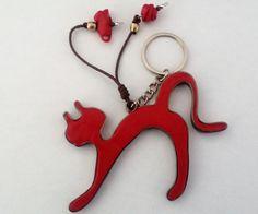 "Schlüsselanhänger ""cat&mouse"" – Unikate Schmuck Cat Mouse, Jewelery, Personalized Items, Crafts, Art, Keychains, Jewlery, Art Background, Jewels"