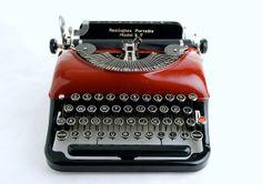 Red Typewriter Remington  5T Streamline on Etsy, $448.00