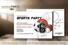 Get in the Play Birthday Party Invitation by PeanutPRINTS4u
