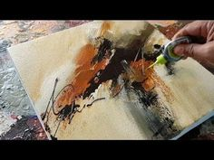 Demonstration of easy abstract painting in acrylics. Tools : peace of formica, palette knife and flat brush. Colors : Burnt sienna, white and black