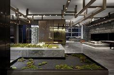 Community Places, Lobby Reception, Asian Interior, Interior Architecture, Interior Design, Modern Restaurant, Hotel Interiors, Hotel Lobby, Model Homes