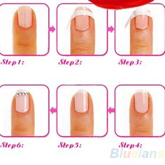 French-Manicure-Nail-Art-Tips-Creative-Nail-Tape-Stickers-Tape-Pattern-On-Nail-Fringe-Guides-Sticker.jpg 500×500 pixels