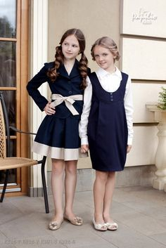 I think these school uniforms are much cuter and fashionable than what I had to wear when I went to private school.