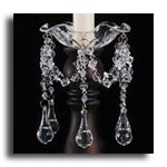 Dangle Bobeches are not only for candles. We use them around bouquets, use the jewels on lighted branches and more.  $10.99
