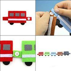 Amazon.co.jp | ハッピークローバー ボタンをとめる練習 手作りフェルト教材【電車】 日本製 fe-train-button | おもちゃ 通販