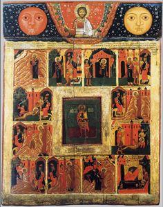 св. вмч. Мина Египетский,  с житием; XVII Russian Orthodox, Orthodox Icons, More Icon, Fresco, Mystic, Vintage World Maps, Saints, Pictures, Religion