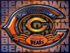 Monsters of the midway Chicago Bears Super Bowl, Nfl Chicago Bears, Bears Football, The Bear Play, Chicago Bears Wallpaper, C Bear, Cubs Team, Football Quotes, Nfl Logo