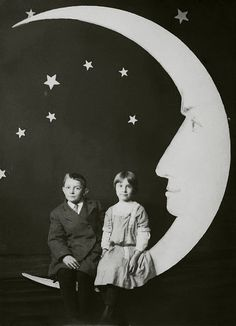 brother and sister on the moon