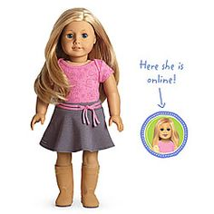 American Girl® Dolls: Light skin, layered blond hair, blue eyes