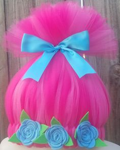 November Delivery Only Customizable Trolls Inspired Wig Poppy Halloween Costume, Toddler Halloween Costumes, Diy Costumes, Halloween Costume Trolls, Trolls Birthday Party, Troll Party, Birthday Parties, Crazy Hat Day, Crazy Hats