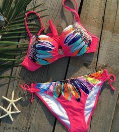 Cupshe Sunflower Bikini Sets