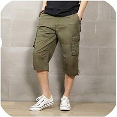 KLGDA Summer Mens Big /& Tall Cargo Shorts Loose Casual Multi-Pocket Classic Fit Short