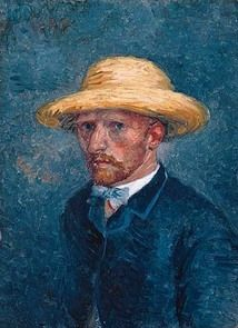 Portret van Theo van Gogh, 1887 één van de  'zelfportretten' een portret moet zijn van zijn broer Theo. Die conclusie is gebaseerd op een aantal opvallende verschillen met Vincents uiterlijk. Theo, de man met de nette geschoren kaken. Ook de vorm en kleur van Theo's baard – meer oker in plaats van rood - zijn een aanwijzing. Bovendien heeft Theo een fijngesneden ronde oorschelp, iets wat Vincent niet had. Ook de kleur ogen en de kledingstijl ondersteunen dit nieuwe inzicht