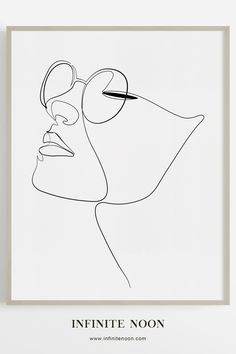 Girl with eye glasses minimal one line drawing, Face figure wall art, modern contemporary fashion print, female face single line illustration decor, m. Abstract Illustration, Line Illustration, Fashion Illustration Face, Illustration Artists, Illustrations, Art Mur, Wall Art, Abstract Face Art, Minimal Art