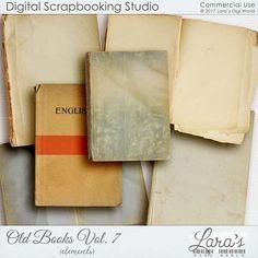 Old Books Vol. 7 by Lara's Digi World | Digital Scrapbooking Element Packs Old Books, Vintage Books, Another Man, Elements Of Art, Site Design, Digital Scrapbooking, Digital Art, Studio, Commercial