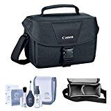 #10: Camera Accessory Bundle Kit of Canon 100ES Top Quality Water-repellent Black Shoulder Bag Case Combo with Pro Optic Complete 14-piece Accessory Cleaning Kit for Photography Lens LCD Sensor Glasses