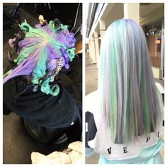 Mint Green and Lilac (or Amethyst) done by using the pinwheel coloring technique to achieve this beautiful dimension!