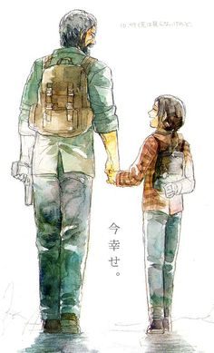 "Joel and Ellie - The Last of Us. This is so precious. <3 [S] ""I'm happy now."" WELL I'M NOT ;_____;"