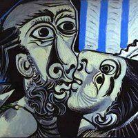 Uma quadro tão enigmático quanto O Beijo, pintado por Picasso em 1969, merece um olhar mais demorado sobre sua personalidade cubista.