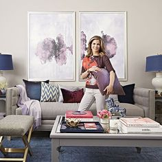 Today show anchor Natalie Morales coaxes her living room out of its beige slumber and into a dreamy oasis full of color, texture, and sparkle.