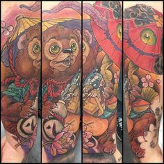 "Tanuki Tattoo. Artist Unknown. Found by Google-ing ""Tanuki"""