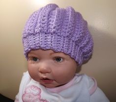 Cute little baby hat. Easy enough to do for beginners.