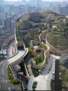 A mall in Osaka, Japan, built it to bring a little green into the concrete and metal city.