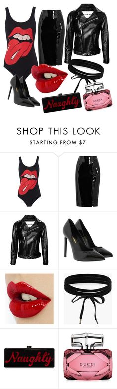 """🙌🙌🙌🙌"" by briannarudley1 on Polyvore featuring MadeWorn, Topshop Unique, Yves Saint Laurent, Boohoo, Edie Parker and Gucci"