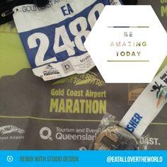 Be amazing today! #26.2 #gcam14 @goldcoast #goldcoastmarathon #42 #Australia
