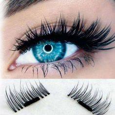 77cef95edd2 $3.39 - 4 Pcs/1 Pair False Eyelashes Natural Eye Lashes Extension Handmade  3D Magnetic