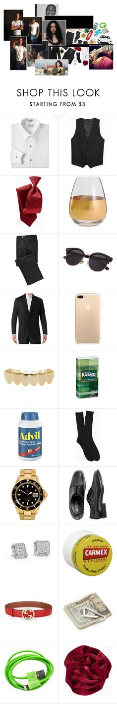 """ 24 karat magic in the air ... head to toes so player "" by dis-trict ❤ liked on Polyvore featuring Marc Blackwell, Maserati, Kleenex, Rolex, Blue Nile, Carmex, Gucci, Crate and Barrel, men's fashion and menswear"