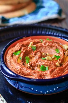 You'll love this muhammara roasted red pepper dip with walnuts! It's smoky, sweet, and just enough spicy. A must-try! #redpepperdip #dip #roastedredpepperdip #muhammara