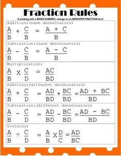 Education Discover Fraction Rules Poster or Handout Life Hacks For School, School Study Tips, Fraction Rules, Learning Tips, Math Vocabulary, Math Formulas, Geometry Formulas, Math Fractions, Math Math
