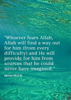 Quran 65:2-3 Alhamdulilah, I love Islam, it literally shows Allah is there for us as long as we never cut off our connection from Him.