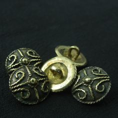 Bronze Anglo-Saxon buttons from The Sunken City by DaWanda.com