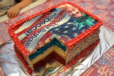 My red, white and blue cake