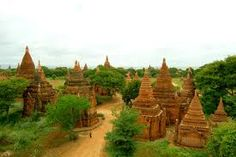 Discover Bagan in Nyaung-U, Myanmar (Burma): Over ancient temples dot the Myanmar landscape at the site of this famed archaeological site. Bagan, Mandalay, Lac Inle, Places Around The World, Historical Sites, Southeast Asia, Wonders Of The World, Cambodia, Laos