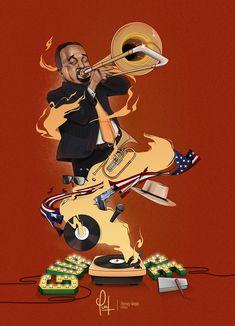 Guapea Willie Colon on Behance Puerto Rico Trip, Puerto Rico History, Art Music, Music Artists, Salsa Musica, Willie Colon, Puerto Rican Culture, Cuban Art, Music Illustration