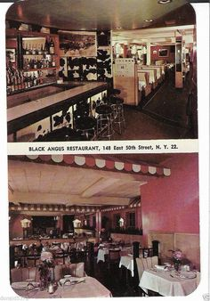 Black Angus Restaurant New York City NY Postcard Circa 1958 in Collectibles, Postcards, US States, Cities & Towns, New York | eBay